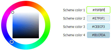 Site builder color customization